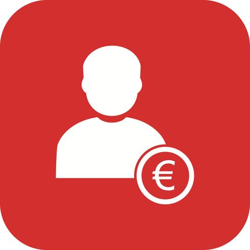 Euro avec Man Vector Icon