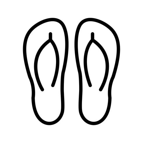 slippers vector pictogram