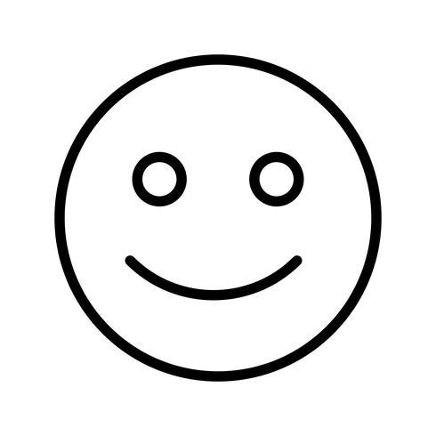 Gelukkig Emoticon Vector Icon