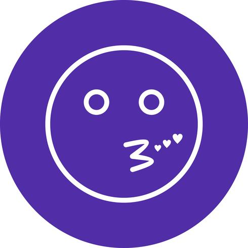 Beso emoji vector icon