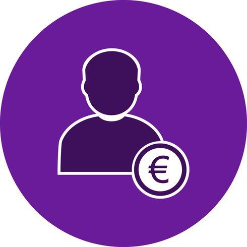 Euro avec Man Vector Icon