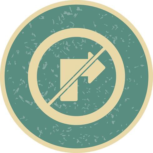 Vektor nr höger sväng ikon
