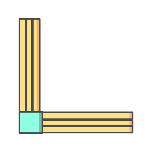 Ícone de vetor de régua de ângulo