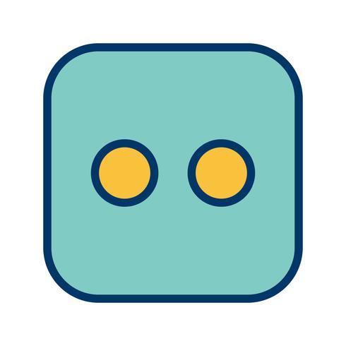 Vektor-Symbol der Würfel zwei
