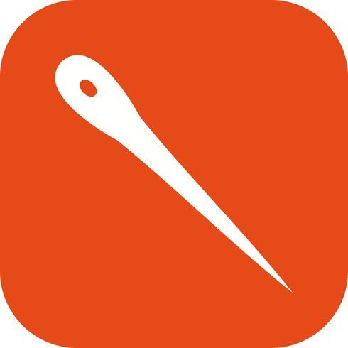 Icono de vector de aguja