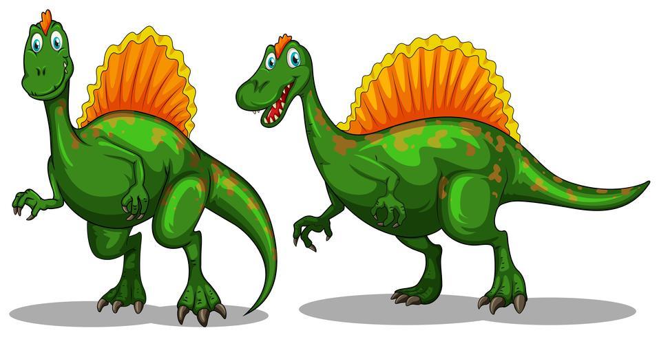 Dinosaurio verde con garras afiladas