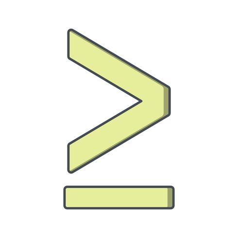 """""""Groter dan of gelijk aan"""" Vector-pictogram"""