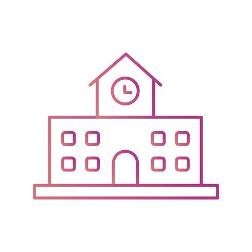 Icono de vector de la escuela