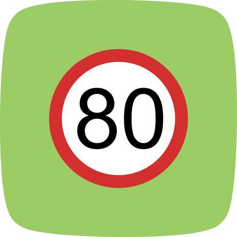 Vector Speed limit 80 Icon