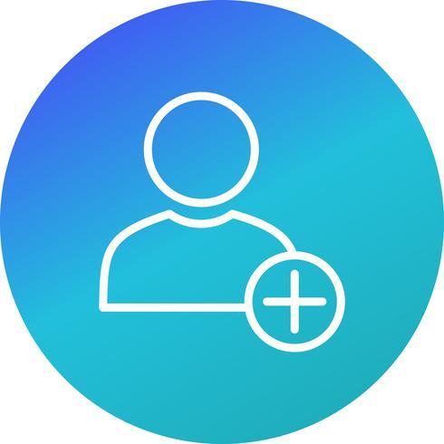 Adicionar ícone de vetor de usuário