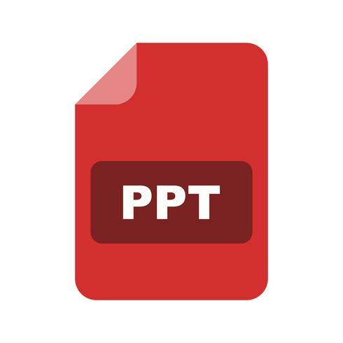 Icona di vettore PPT