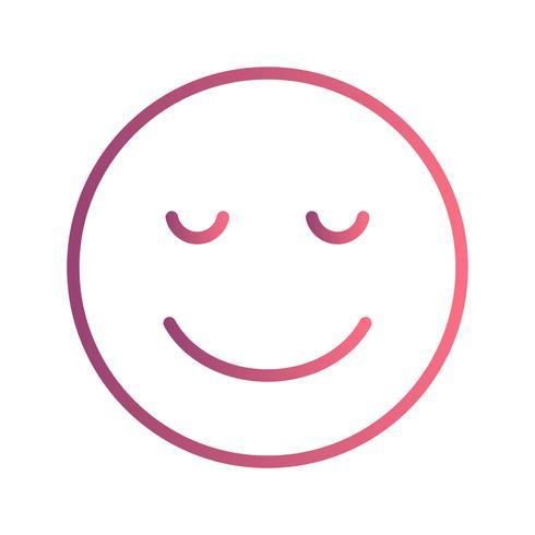 Calme Emoji Vector Icon