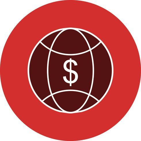 Icona di vettore di soldi del mondo