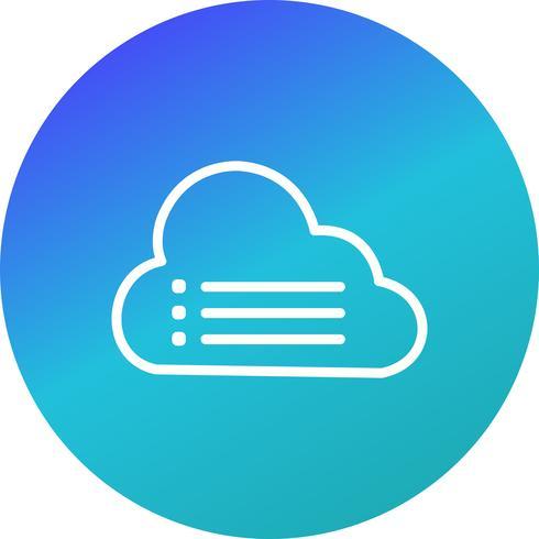 wolk gegevens vector pictogram