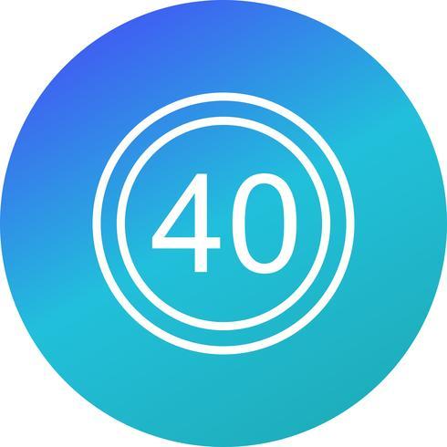 Vector Snelheidslimiet 40 pictogram