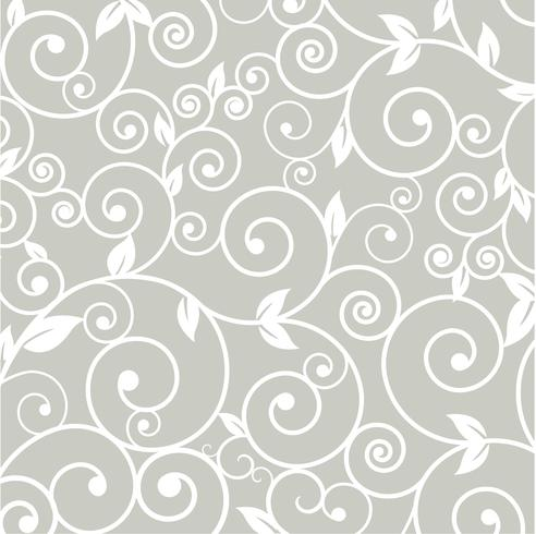 Patroon silhouet gesneden tracery bloem natuurlijke krullen