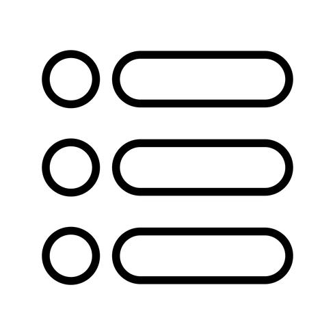 Elenco vettoriale icona