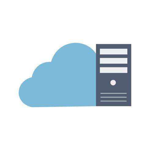 Icona di vettore dati cloud