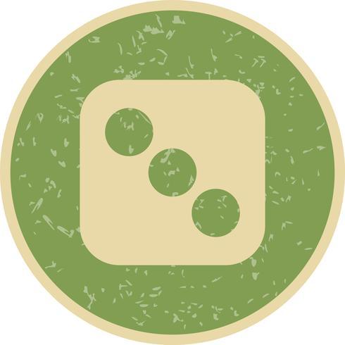 Dados tres vectores icono