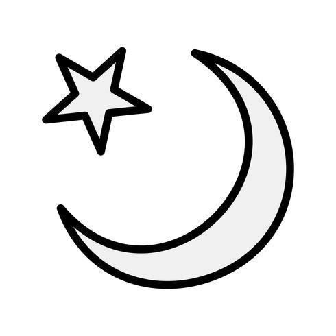 wassende maan vector pictogram
