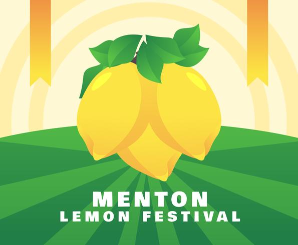 Awesome Menton Frankrijk Lemon Festival Vectoren