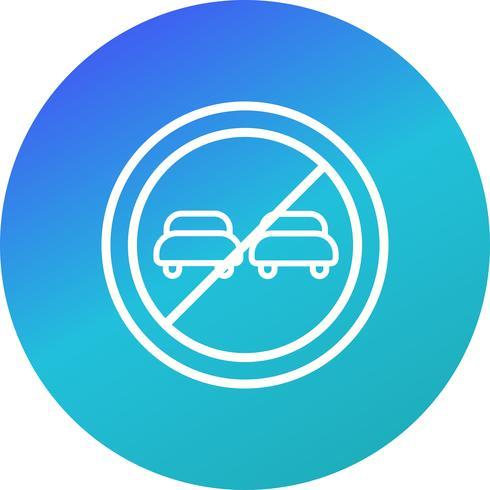 Vector de adelantamiento prohibido icono