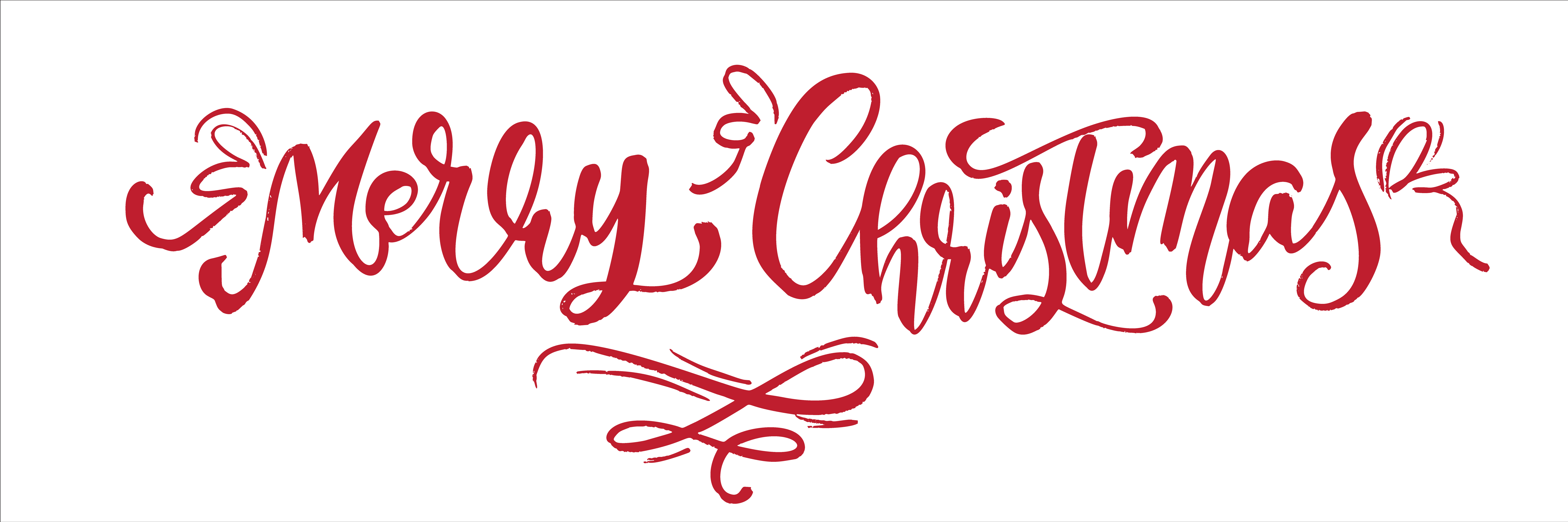 merry christmas red vintage calligraphy lettering vector
