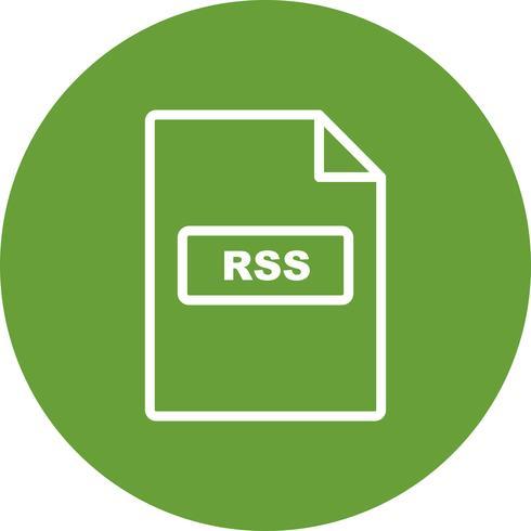 Icona di vettore di RSS