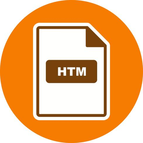 Icona vettoriale HTM