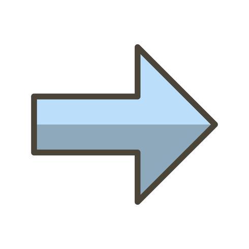 Höger vektorikon