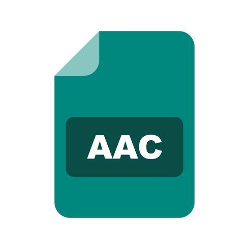 Icona di vettore AAC