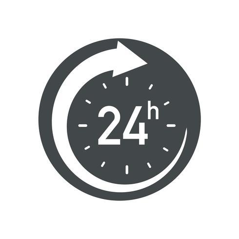 24h icon vector