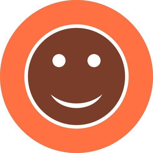 Icona di vettore di emoji felice