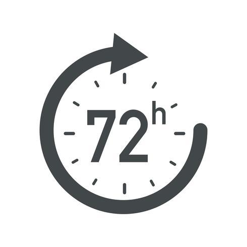 72 uur pictogram.