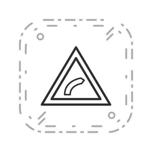 Icône de courbure droite de vecteur