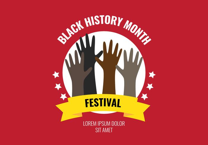 Black History Month Festival vector