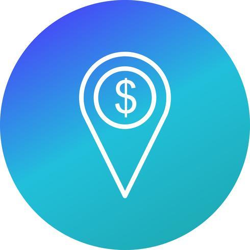 Icono de Vector de ubicación de negocios