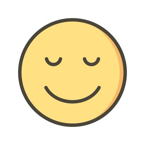 Lugn Emoji Vector Ikon