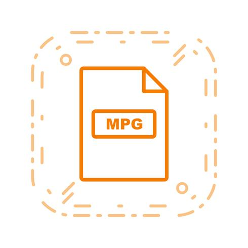 Icona di vettore MPG