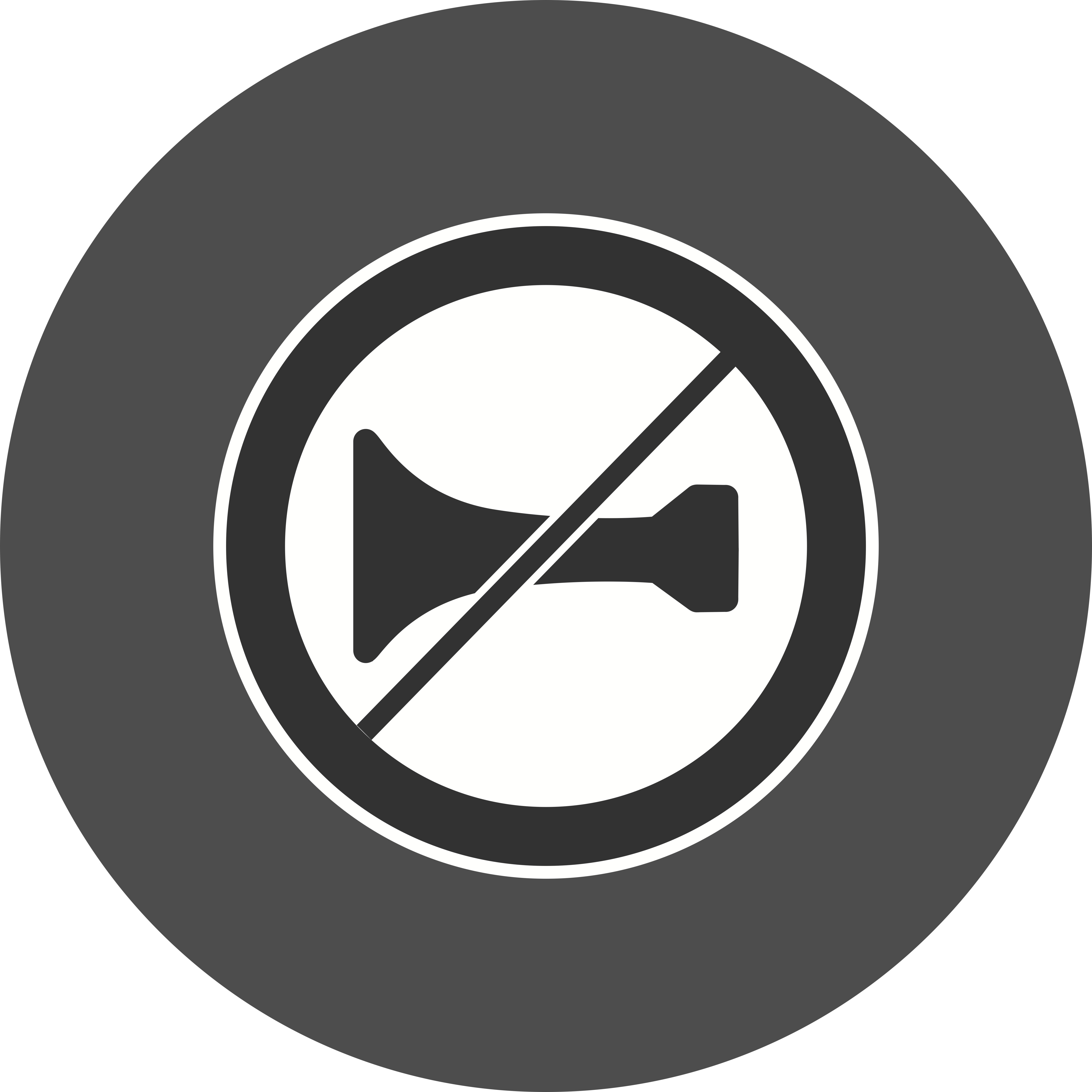 Vector Audible warning devices prohibited Icon - Download ...