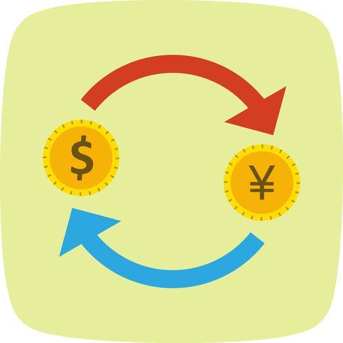 Wissel Yen met Dollar Vector Icon