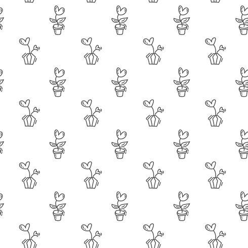 Hand gezeichneter netter Valentinsgruß-Tagesherzflourish-Musterhintergrund. Nahtlose vektorabbildung für Liebe und Hochzeit, Grußkarte und Einladung