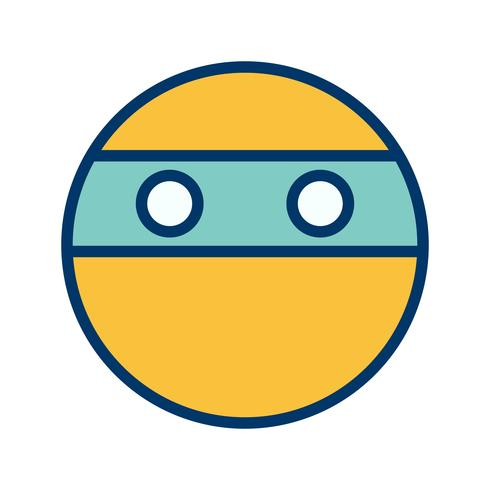 ícone de vetor emoji ninja