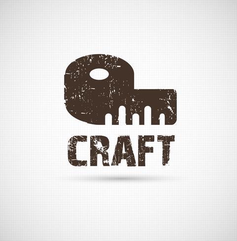 Ambachtelijke logo bedrijfsidee. Instrument van ontwerp