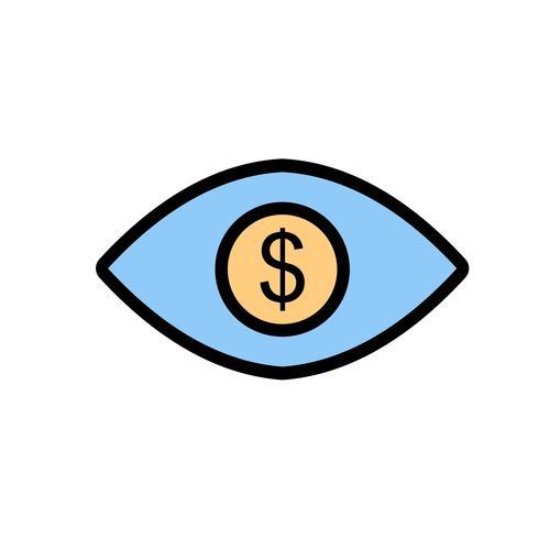 Oog Dollar Vector Icon