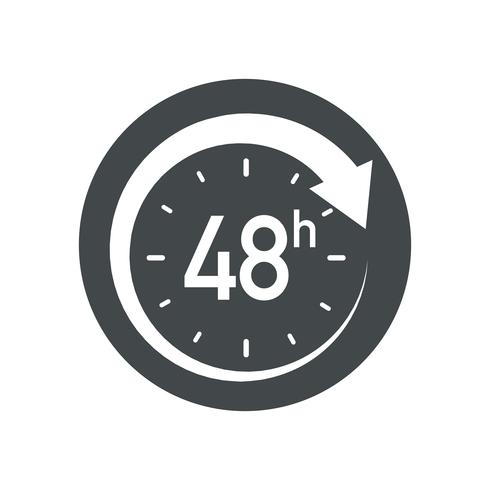 48h icon. vector