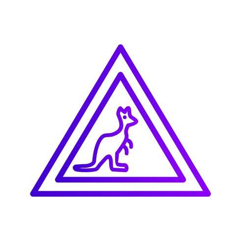 Icona di attraversamento di animali selvatici di vettore