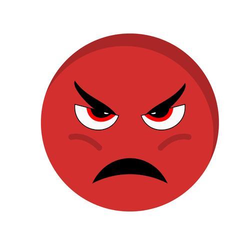 Icono de Vector de Emoji enojado
