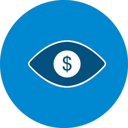 Eye Dollar Vector Icon