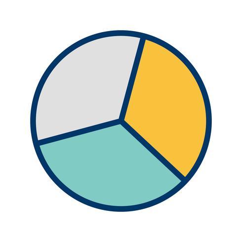 cirkeldiagram vektorikonen
